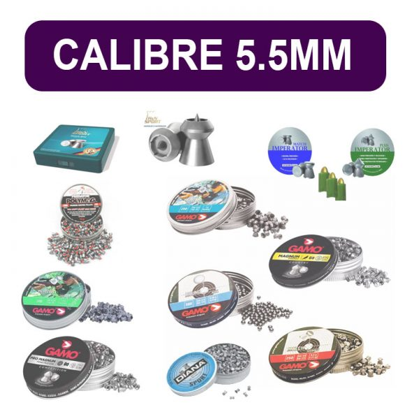 Munición calibre 5.5mm